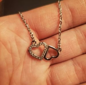 Fragrant Jewels double heart necklace